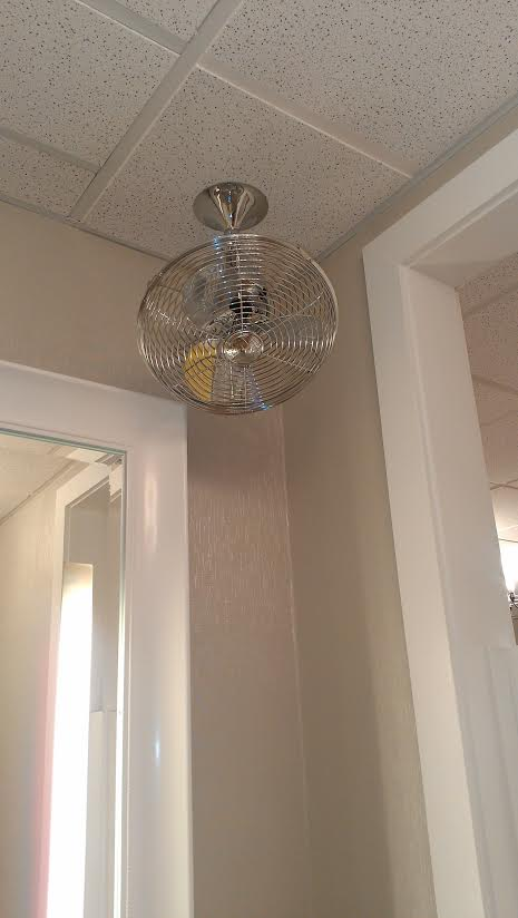 Torrid dressing room fan