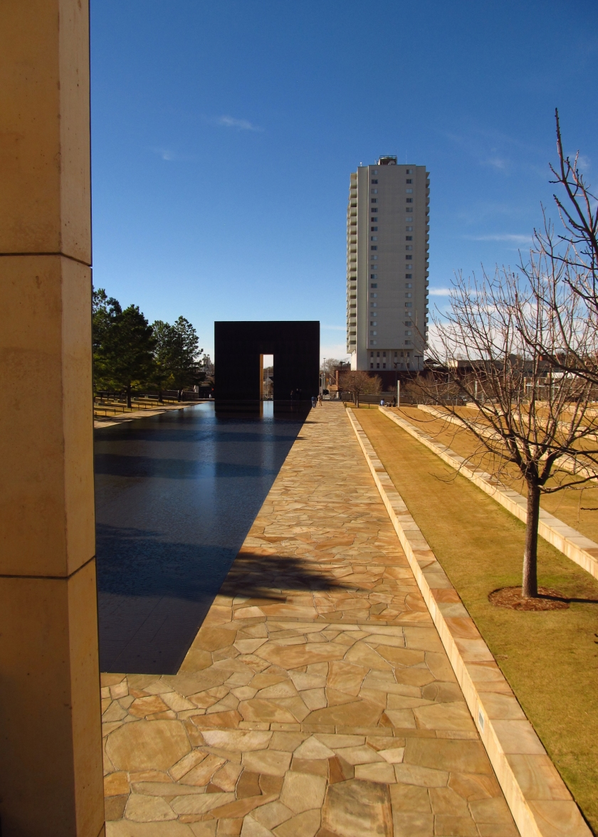 2012 12 16 OKC Mem Gates of Time Reflecting Pool