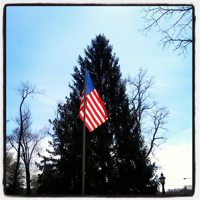 2015 04 17 Bellbrook Park flag