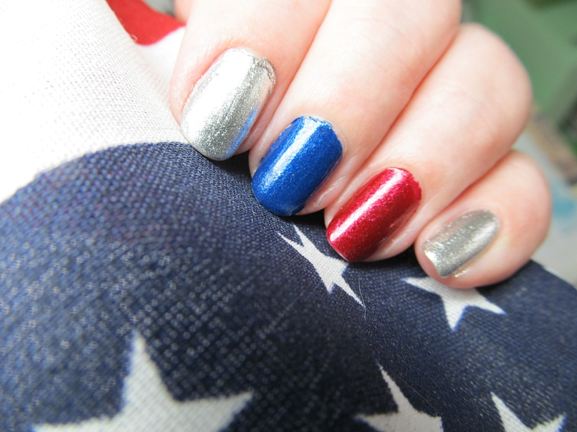 Fun, patriotic nails - thanks to Zoya.