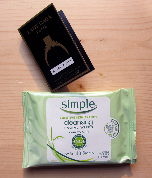 Perfume and facial wipes