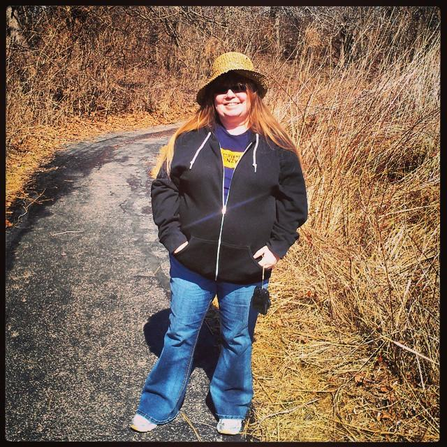 On the native wildflower trail, March 15, 2015.