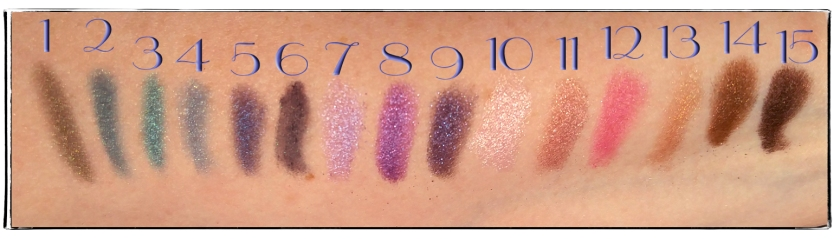 2016 04 06 UD Urban Spectrum swatches numbers